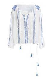 Patty White Blue Top €230