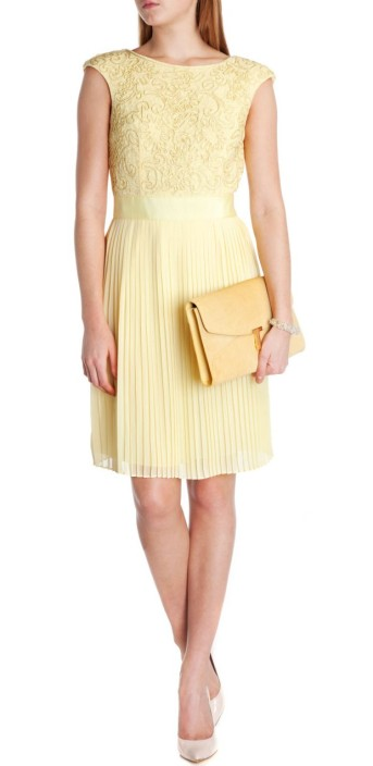 Ted Baker €235 - Aliana Lace dress http://www.tedbaker.com/ie/Womens/Clothing/Dresses/ALIANA-Lace-dress-Lemon/p/110709-73-LEMON