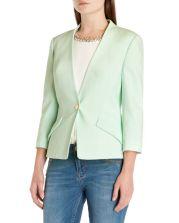 Ted Baker €210 - Ellsie Curved hem jacket http://www.tedbaker.com/ie/Womens/Clothing/Tailoring/ELLSIE-Curved-hem-jacket-Pale-Green/p/108613-38-PALE-GREEN
