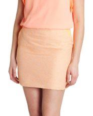 Ted Baker €135 - Juleen Boucle mini skirt http://www.tedbaker.com/ie/Womens/Clothing/Skirts/JULEEN-Boucle-mini-skirt-Orange/p/110557-85-ORANGE
