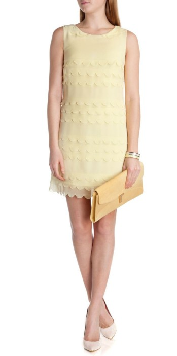 Ted Baker €200 - Priscil Tiered scallop edge dress http://www.tedbaker.com/ie/Womens/Clothing/Dresses/PRISCIL-Tiered-scallop-edge-dress-Lemon/p/110581-73-LEMON