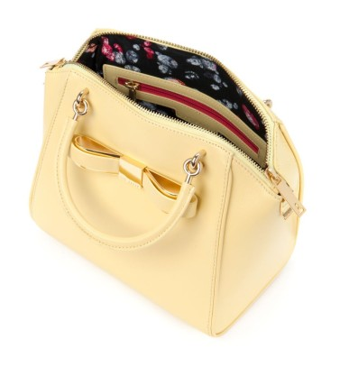 Ted Baker €225 - Bandook Small bow tote bag http://www.tedbaker.com/ie/Womens/Accessories/Bags/BANDOOK-Small-bow-tote-bag-Lemon/p/108265-73-LEMON