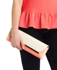 Ted Baker €165 - Lulibub Colour block clutch bag http://www.tedbaker.com/ie/Womens/Accessories/Bags/LULIBUB-Colour-block-clutch-bag-Bright-Pink/p/108304-56-BRIGHT-PINK