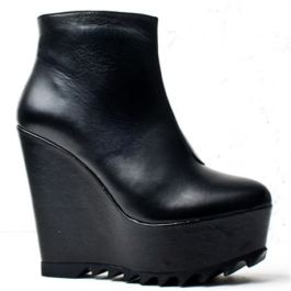 Korkys Black Wedges €60 - http://www.korkys.ie/black-leather-wedge-ankle-boot-l276-bkl