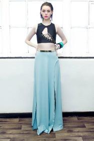 Parallel High Split Maxi Skirt £40/€50 - http://www.dancingdollsuk.com/product/parallel/