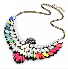 Glitz n Pieces €15 - Colourful Eagle Necklace http://glitznpieces.ie/product/colourful-eagle-necklace/
