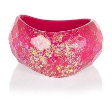 Pink Flecked Curve Bangle €17 - http://eu.riverisland.com/women/jewellery/bracelets/Pink-flecked-curved-bangle-650117