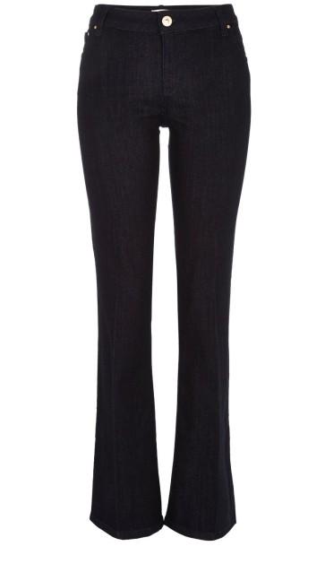 River Island €55 - Dark wash Alice kick flare jeans http://eu.riverisland.com/women/jeans/bootcut--flared-jeans/Dark-wash-Alice-kick-flare-jeans-650409