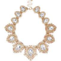River Island €25 - Gold tone gem stone statement necklace http://eu.riverisland.com/women/jewellery/necklaces/Gold-tone-gem-encrusted-necklace-653733