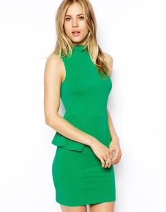 ASOS €31 - Sleeveless Dress with Polo Neck and Peplum http://tinyurl.com/nbf9jx5