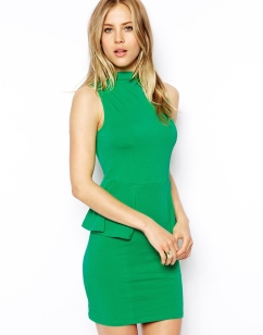ASOS €31 - Sleeveless Dress with Polo Neck and Peplum http://tinyurl.com/nbf9jx5