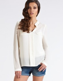 Uttam Boutique White Blouse £40.00/€50 - http://www.lipsy.co.uk/store/uttam-boutique/uttam-boutique-white-blouse-with-pockets/product-is-BR01879_001
