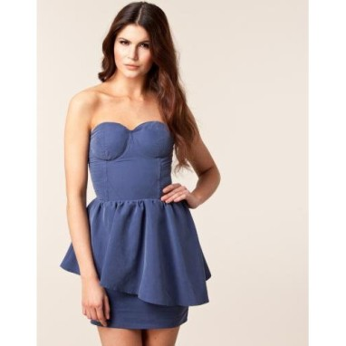 Gestuz Slate Blue Sweetheart Dress €45 - http://thehubmarketplace.com/womens/womens-dresses?product_id=338