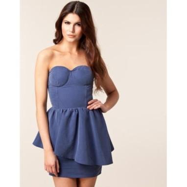 Gestuz Slate Blue Sweetheart Dress €45 - http://thehubmarketplace.com/womens/womens-dresses?product_id=338