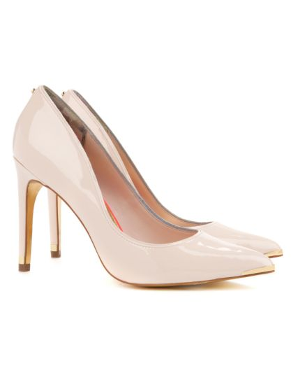 Ted Baker €140 - Thaya Leather court shoe http://www.tedbaker.com/ie/Womens/Footwear/THAYA-Leather-court-shoe-Nude-Pink/p/110349-57-NUDE-PINK