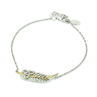 Jean Butler €125 - Sterling Silver Yellow Feather Vein Bracelet http://www.jeanbutlerjewellery.com/sterling-silver-yellow-vein-feather-w-cubic-zirconia-trinity-b-let.html