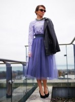 Baby Blue Knee Length Tulle Skirt €49.99 - http://thehubmarketplace.com/style-trends-hot-fashion?product_id=555