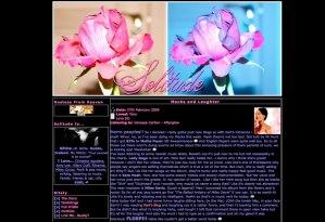 Solitude blog layout, 2009
