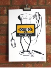 Mix Tape Colour Screen Print €90 - http://thehubmarketplace.com/mens/mens-wall-art-prints?product_id=603