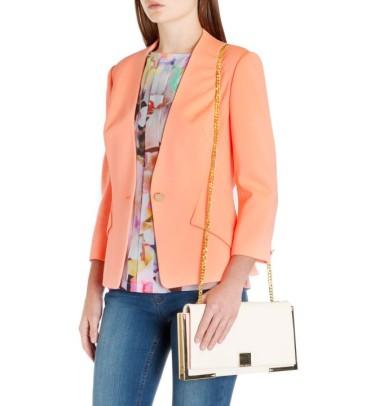 Ted Baker €210 - Curved Hem Blazer http://www.tedbaker.com/ie/Womens/Clothing/Tailoring/ALISYA-Curved-hem-blazer-Orange/p/111984-85-ORANGE