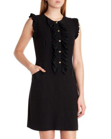 Ted Baker €175 - Mimmi Ruffle detail dress http://www.tedbaker.com/ie/Womens/Clothing/Dresses/MIMMI-Ruffle-detail-dress-Black/p/110193-00-BLACK