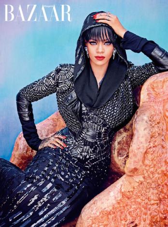Rihanna wearing Michael Cinco