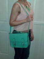 Large Mint Green Satchel €24.50 - http://www.loveaccessories.ie/product/large-mint-green-satchel/