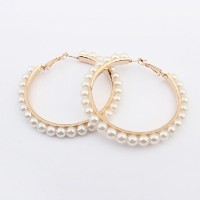 Pearl Hoop Earrings €5 - http://www.loveaccessories.ie/product/pearl-hoop-earrings/