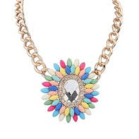 Multicolour Gemstone Necklace €14 - http://www.loveaccessories.ie/product/multicolour-gemstone-necklace/