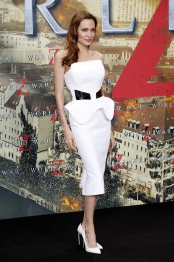 2013 World War Z Premiere - wearing Ralph & Russo