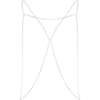 River Island €8 (Silver version) - http://eu.riverisland.com/women/jewellery/body-jewellery--capes/Silver-tone-thin-chain-body-harness-655030