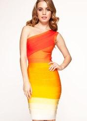 Celebrity Boutique €123.85 - http://www.celebboutique.com/caitlin-orange-ombre-one-shoulder-bandage-dress-au-en.html