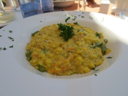Martini Restaurant - Salmon, Dill and Asapargus Risotto