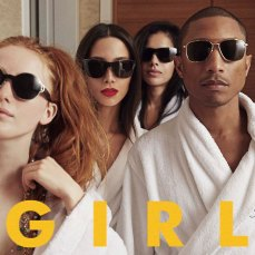 "Pharrell Williams ""G I R L"" - https://itunes.apple.com/ie/album/g-i-r-l/id823593445"