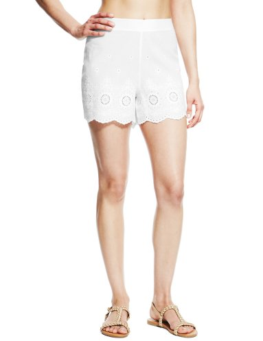 Marks & Spencer £15.60 - http://www.marksandspencer.com/pure-cotton-embroidered-beach-shorts/p/p22300424