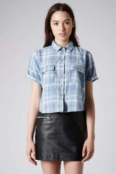 MOTO @ Topshop €44.30 - Soft Check Boxy Shirt http://bit.ly/1qAKVow