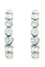 No.1 Jenny Packham €15.75 - Designer silver iridescent gem hoop earrings http://bit.ly/1n5do2d