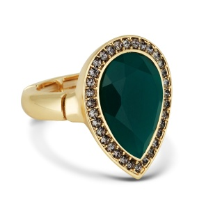 Principles by Ben De Lisi €18 - Designer green teardrop stretch ring http://bit.ly/1qL5JJe