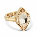 Jon Richard €45 - Light silk lemon fancy stone stretch ring http://bit.ly/1mXg79l