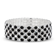 Jon Richard €27 - Jet and crystal embellished wide stretch bracelet http://bit.ly/1mmztIR