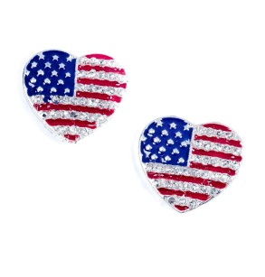 Claires Accessories €4.95 - Star and Stripes Stud Earrings http://bit.ly/1qSJJd7