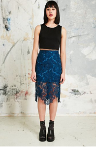 House of Holland €155 - Lace Pencil Skirt http://bit.ly/1mndCmn
