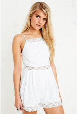 Kimchi Blue €39 - Cha Cha Lace Playsuit in White http://bit.ly/1o3Y5U5