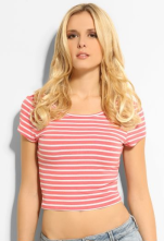 Guess €22 - Simple Striped Crop Top http://bit.ly/VHhTX1