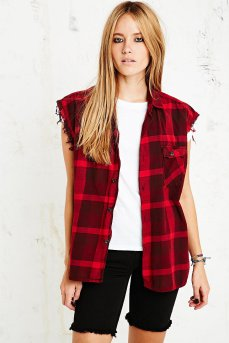 Vintage Renewal €40 Sleveless Flannel Shirt in Red http://bit.ly/WF6Z3Z