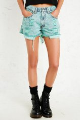 Vintage Renewal €32 - Overdyed Distressed Levi's Denim Shorts http://bit.ly/1pdvsao