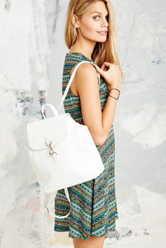 Urban Outfitters €55 - Small Dog Clip Backpack in White http://bit.ly/KillerFashion-UO1