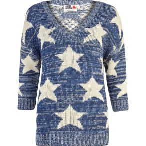 Chelsea Girl €18 - Blue Star Print Jumper http://bit.ly/1t0EADP