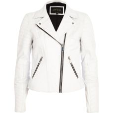 River Island €161 - White Leather Jacket http://bit.ly/1lBDJzT