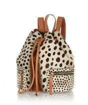 River Island €87 - Brown Mixed Animal Print Pony Rucksack http://bit.ly/killerfashion-ri2